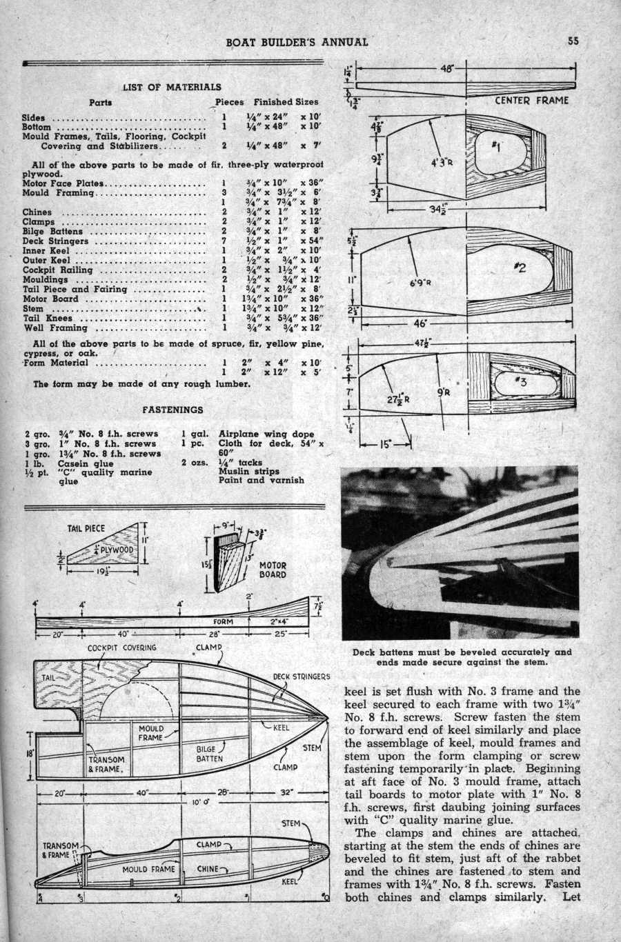 Bale: Dragonfly hydroplane plans