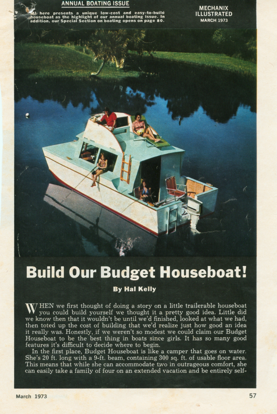 MechanixIllustrated BudgetHouseBoat