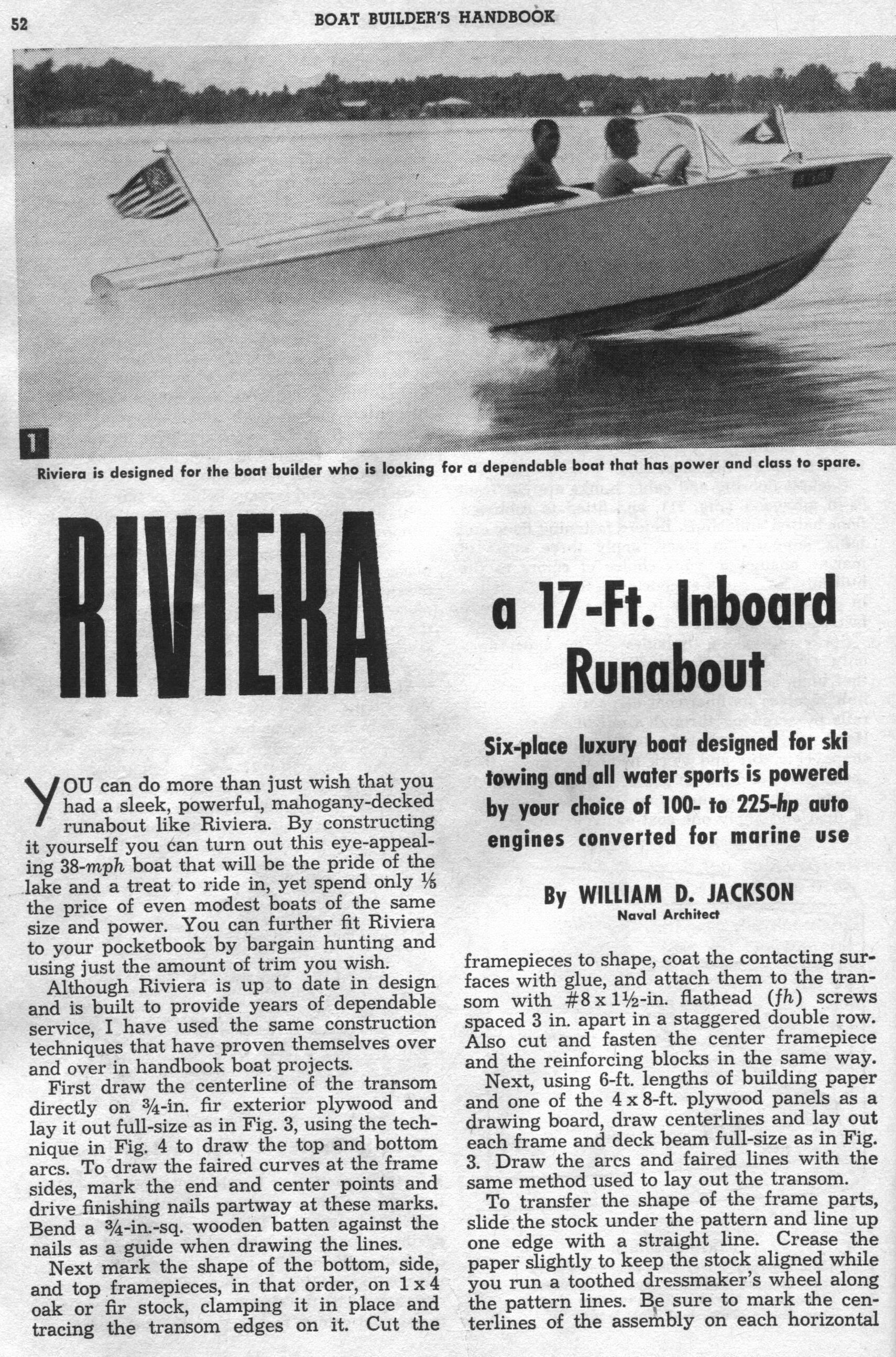 RunaboutsInboard riviera